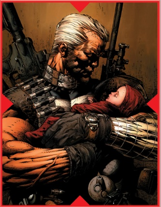 Cable in X-Men Messiah CompleX - Proud Father, Big Guns