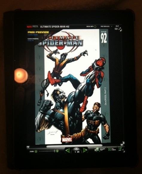 iPad Marvel Comics