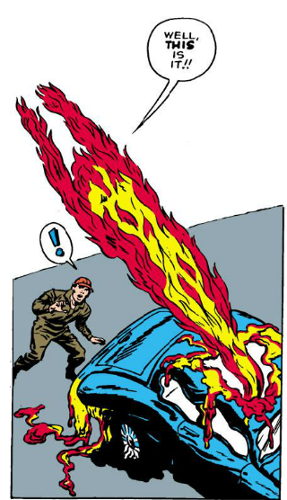 Human Torch Hates Cars