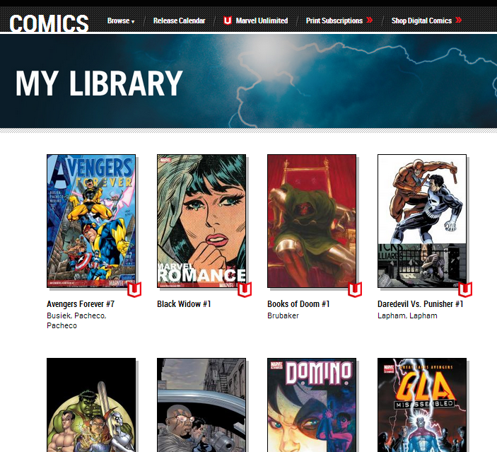 Marvel Unlimited Library