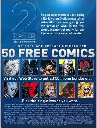 Dark Horse Free Comics