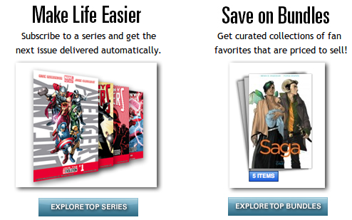 comixology subscriptions and bundles