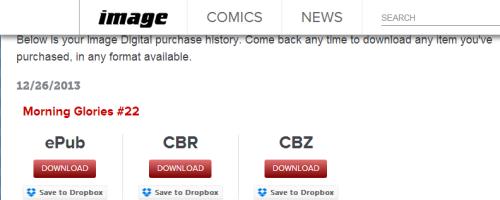Image dropbox comics