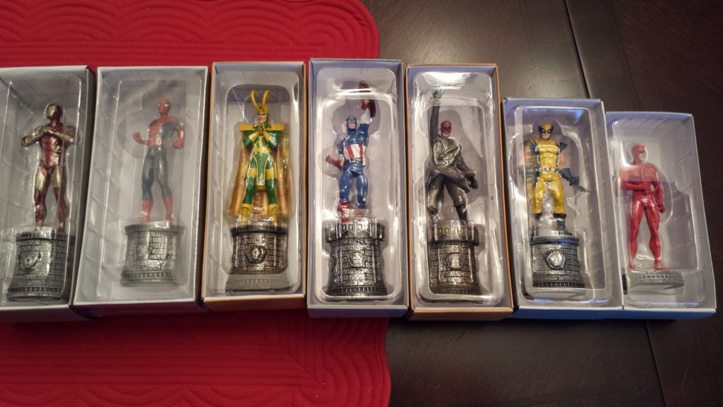 Marvel characters chess pieces