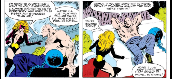 Absorbing Man trash talk