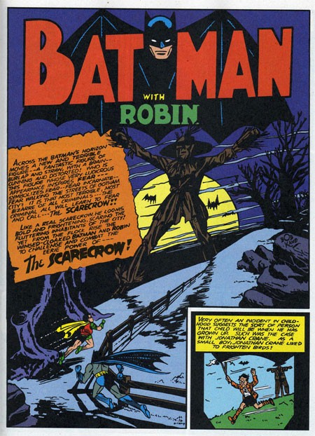 Scarecrow first appearance in detective comics
