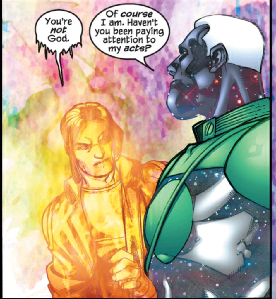 Rick Jones and Captain Marvel not a god