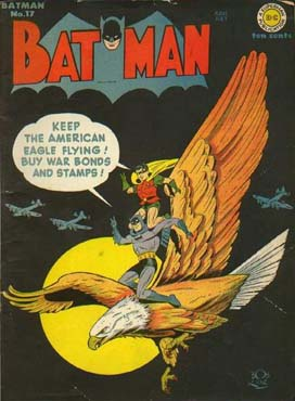 There is nothing more majestic than Batman and Robin riding an eagle. Keep the American eagle flying!!
