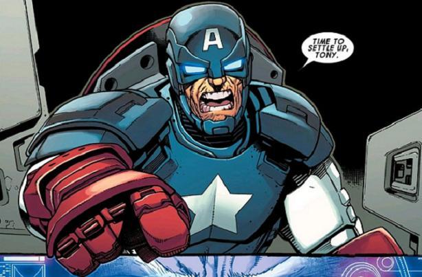 RoboCap (Avengers #44. Art by Kev Walker)
