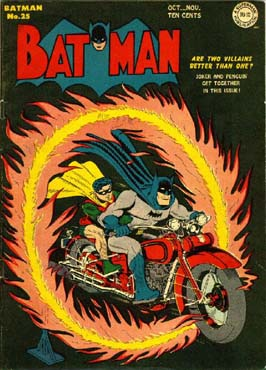You may be cool, but you'll never be Batman riding a motorcycle through a burning hoop cool.