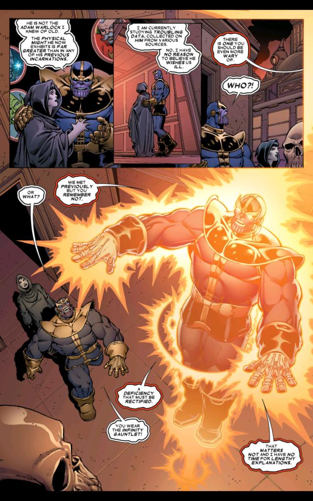 Thanos Annual #1 comes alive