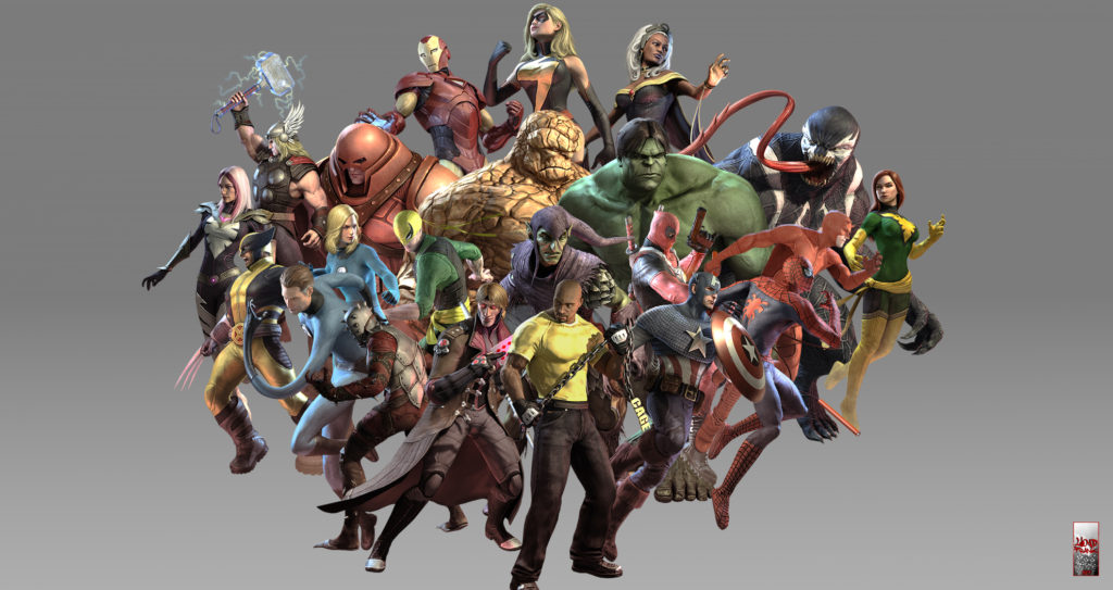 A bunch of marvel guys and gals