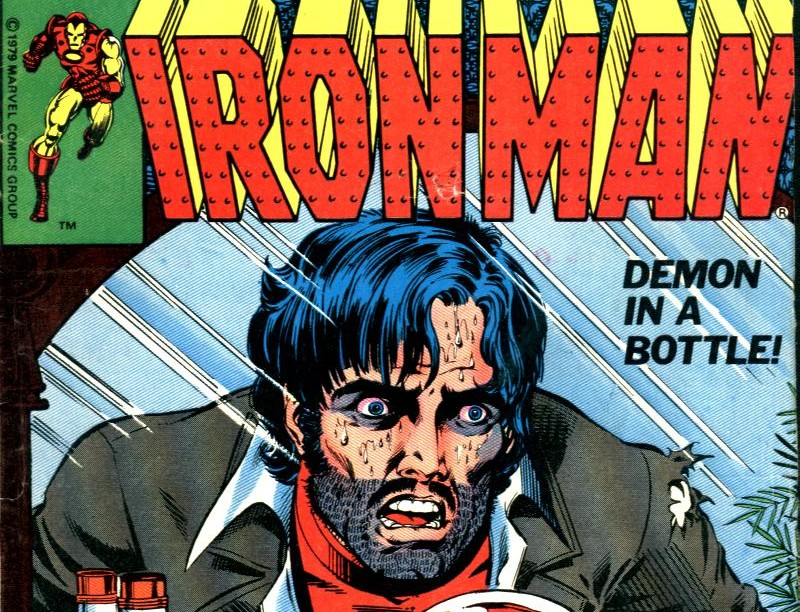 Iron Man deals with alcoholism