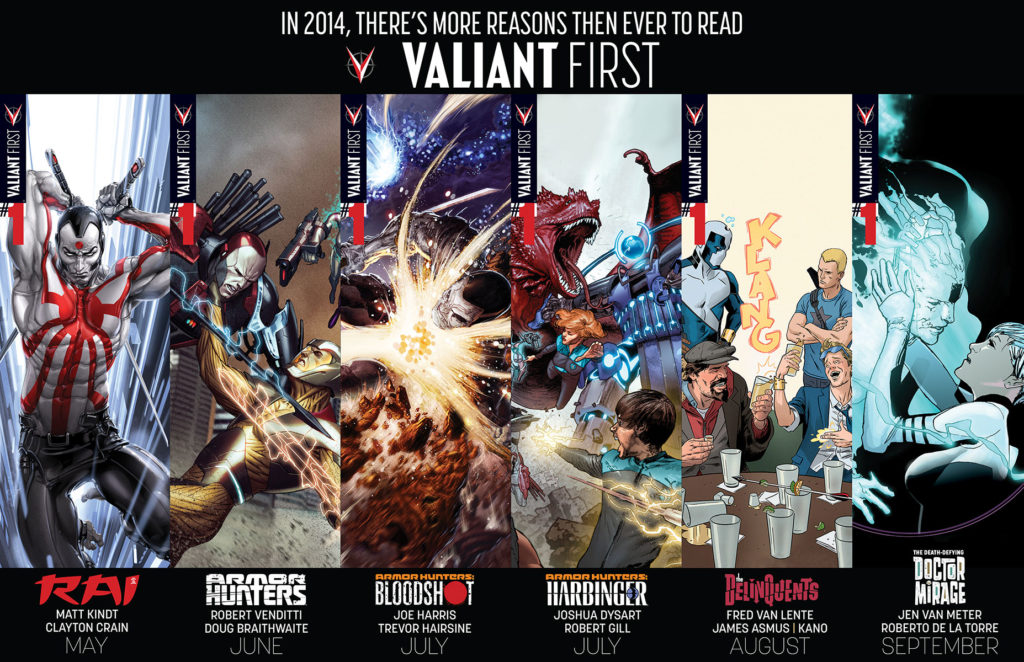 new Valiant comics now free