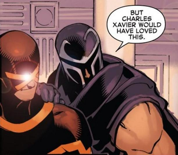 Actually think Chuck would've enjoyed living more. Right, Cyclops?