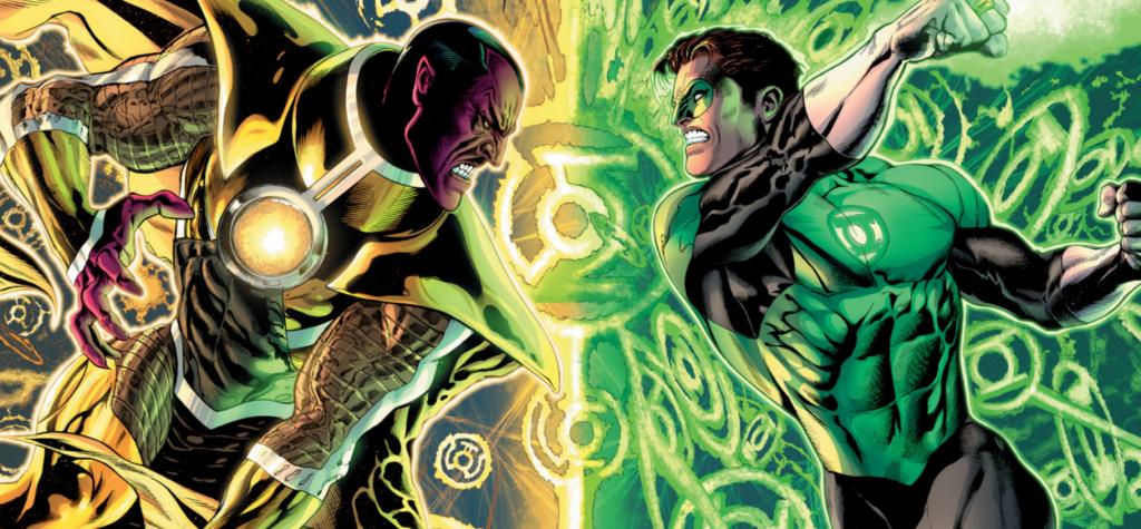 Hal Jordan fights Sinestro