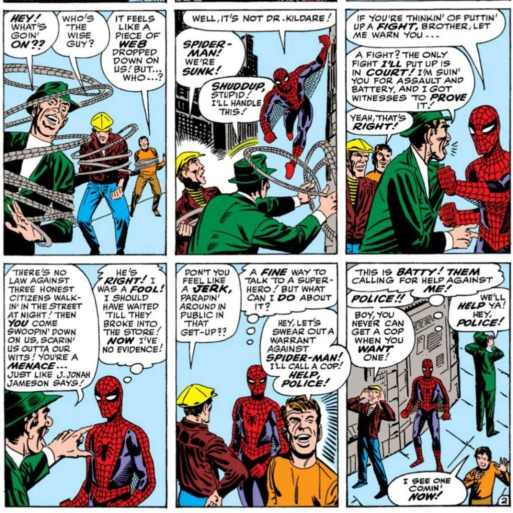 Spider Man cracking wise