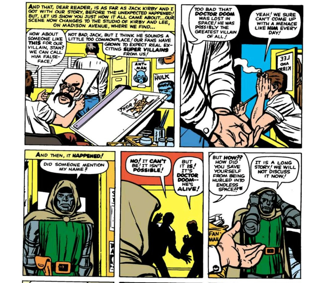 doctor doom meets stan lee and jack kirby