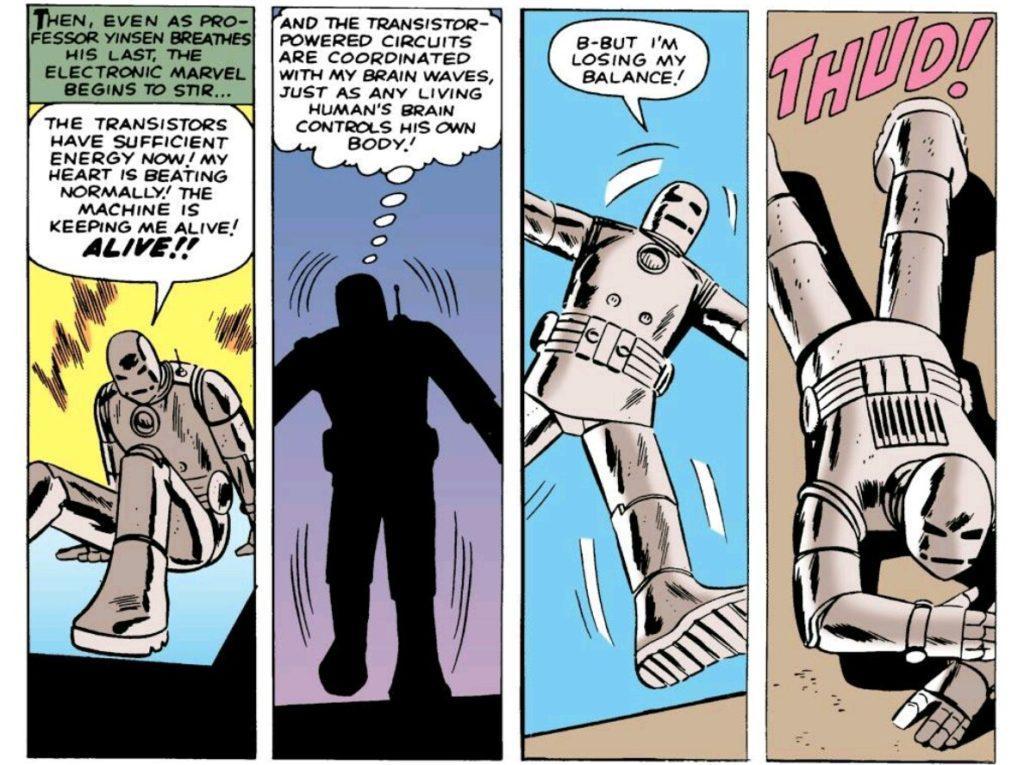 Iron man falls on his face