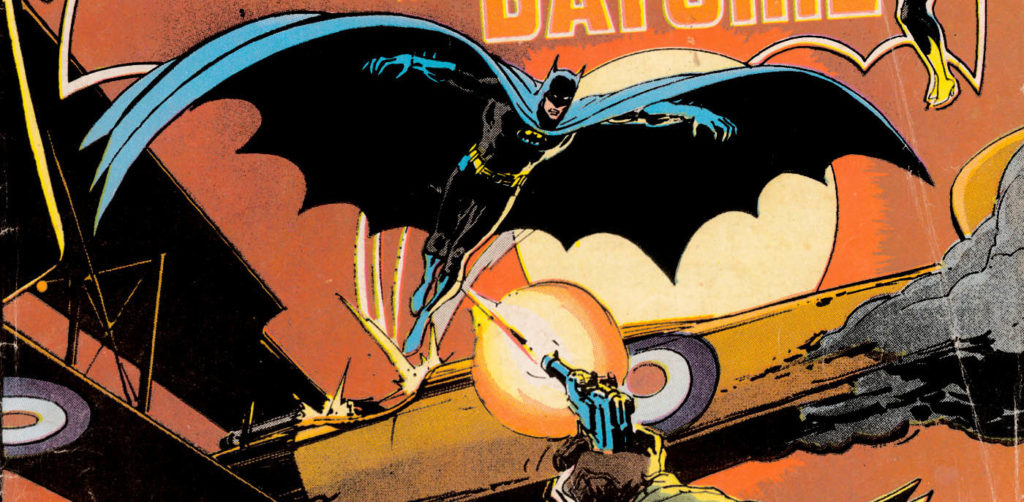 Flying Batman cape comic cover