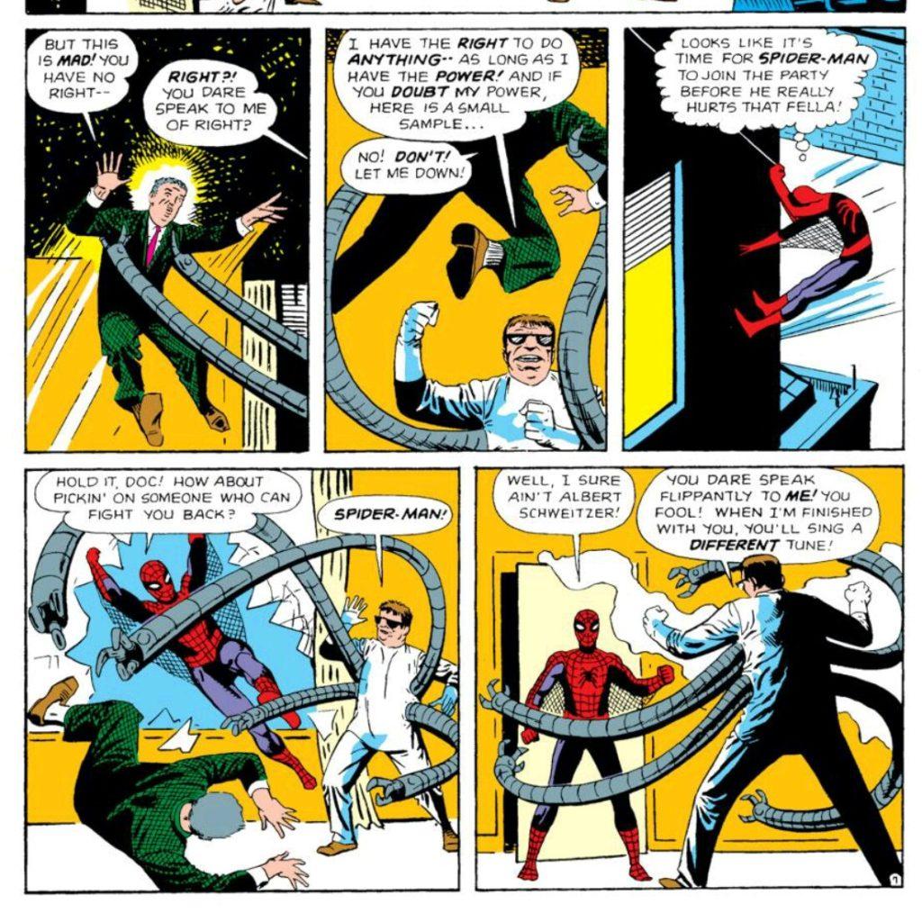 Spider Man fights Doc Ock