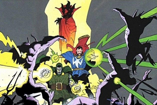 Doctor Strange and Doctor Doom in Hell