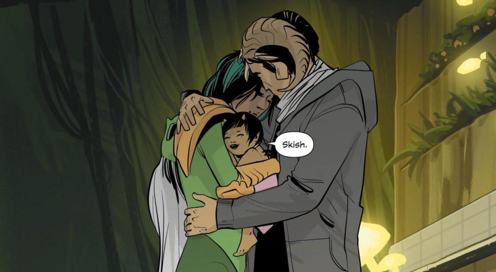 A panel from Image Comic book Saga