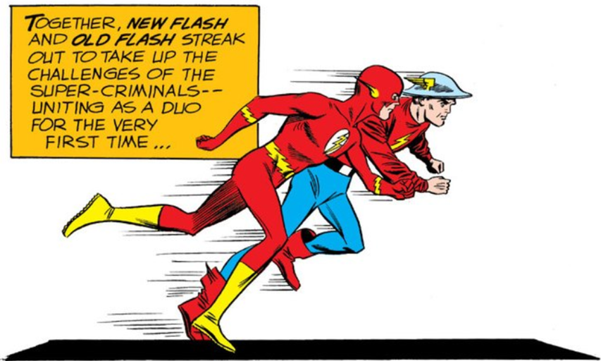 DC started the multiverse with their Silver Age Flash, Barry Allen