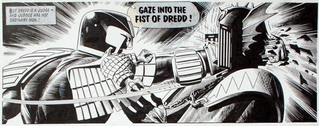 Judge Dredd Comic Books Say Gaze Into the Fist of Dredd