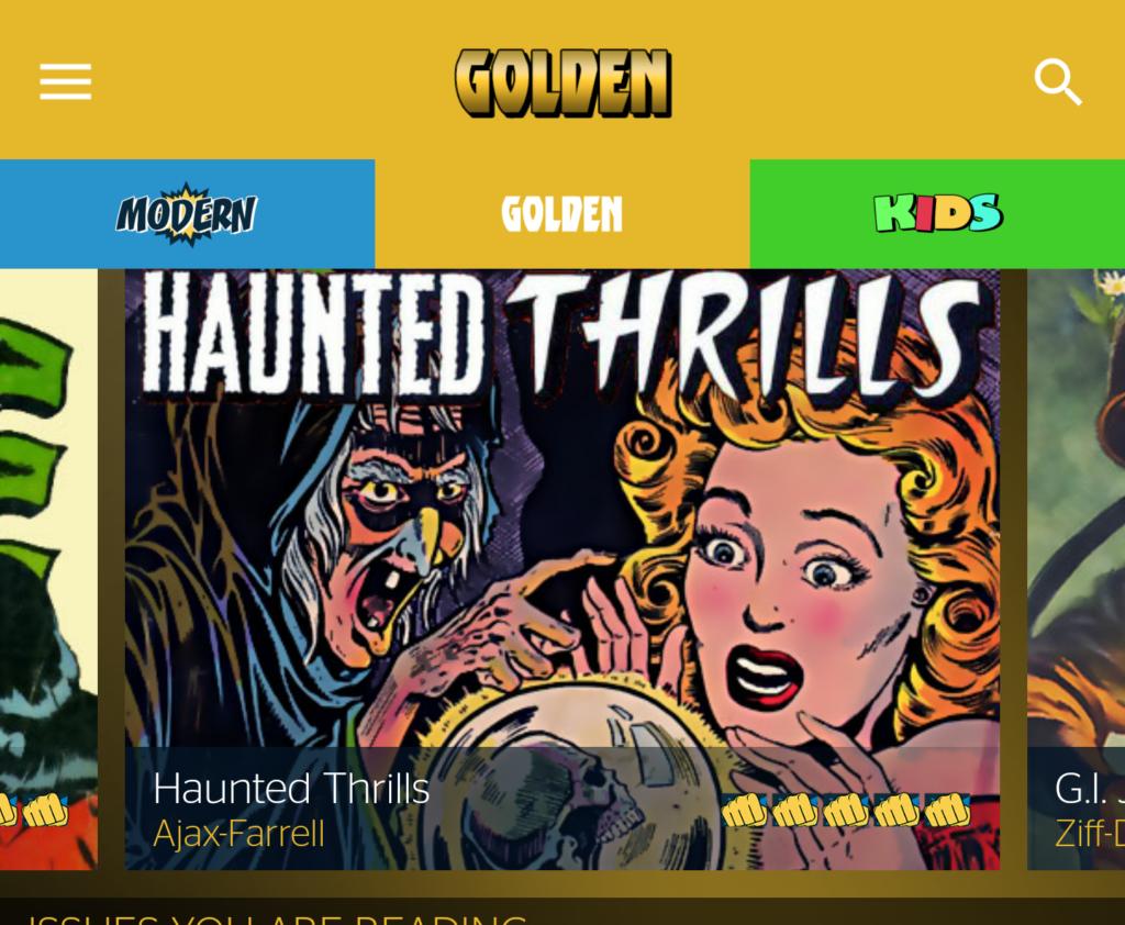 Golden Age Powfolio comics