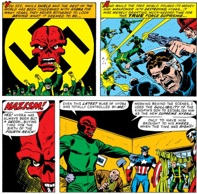 Red Skull makes Hydra full of Nazis