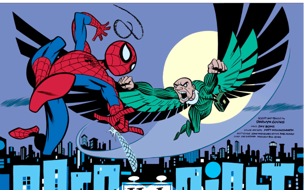 Spidey vs. Vulture by artist Darwyn Cooke