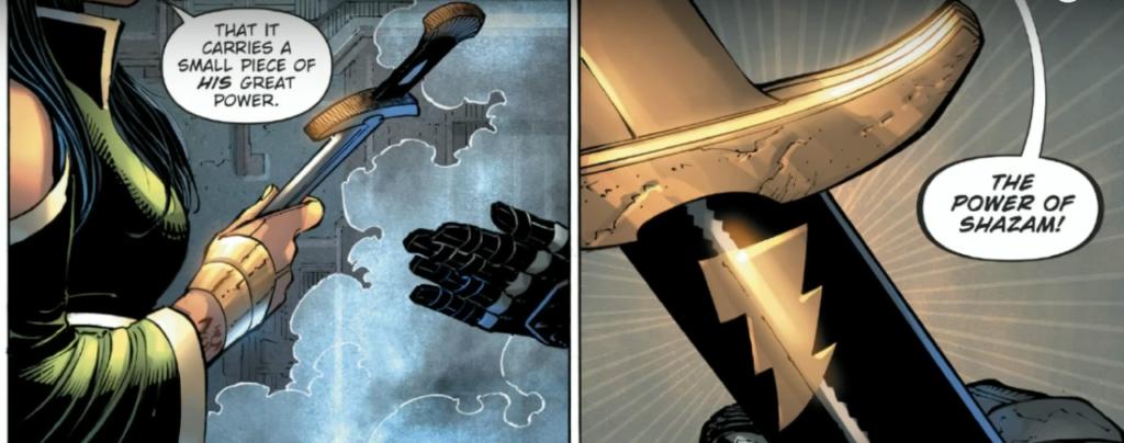 Batman gets an Nth Metal dagger from Talia Al Ghul