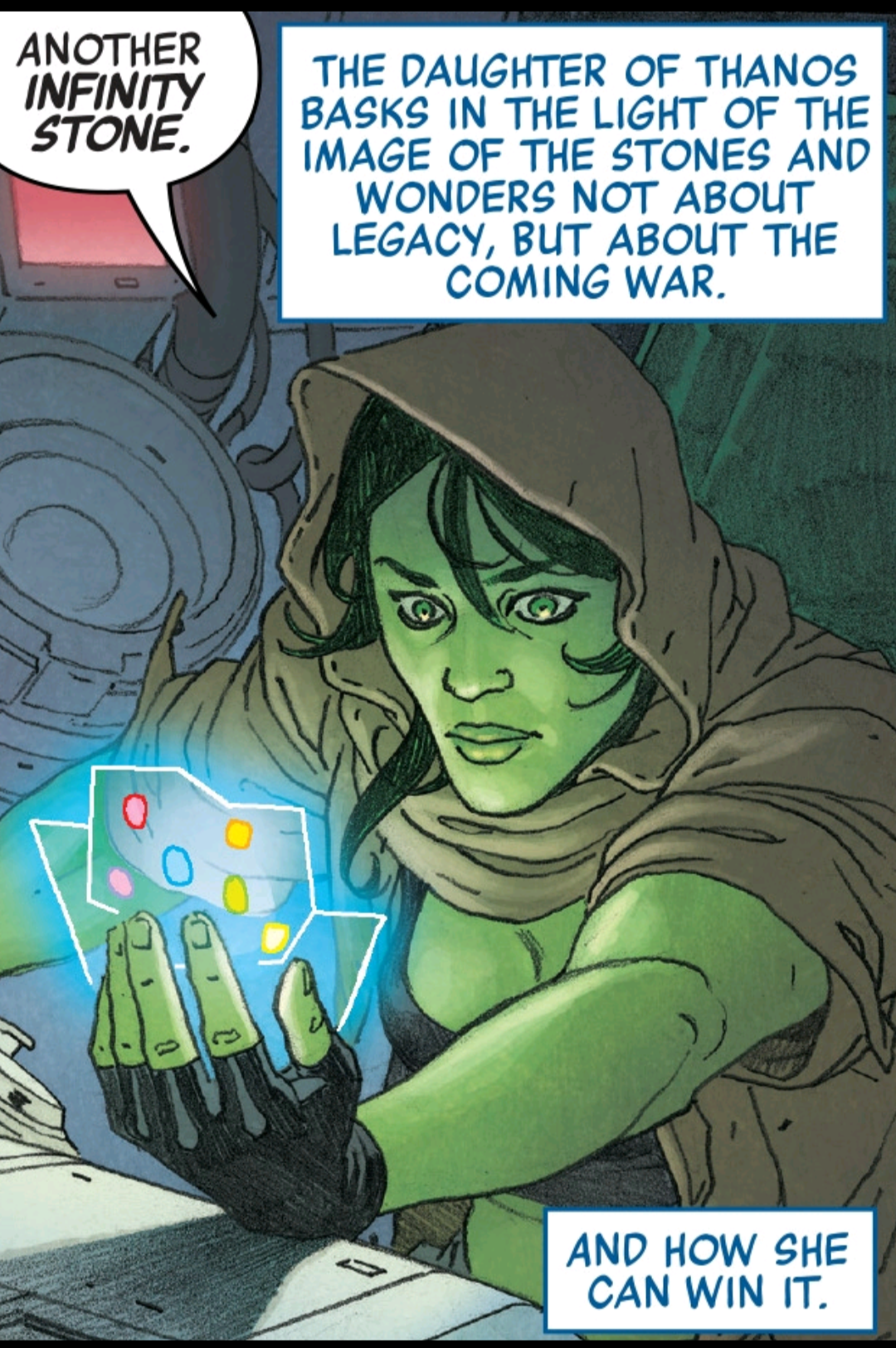 Gamora on the hunt for infinity stones