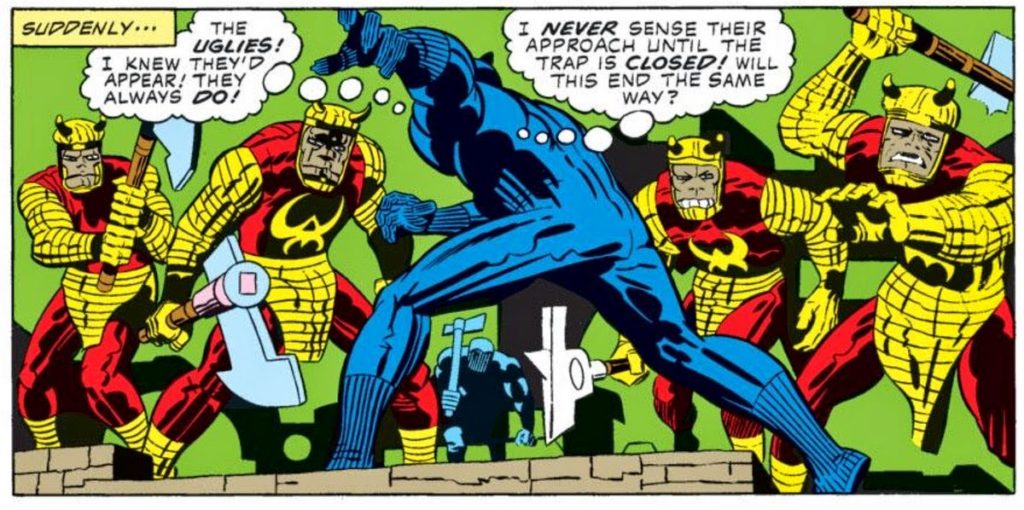 The extremely weird Black Panther comic by Jack Kirby