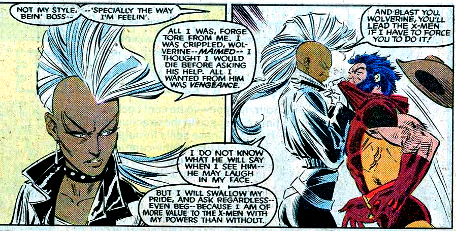Storm rocks a mohawk and loses her powers in X-Men