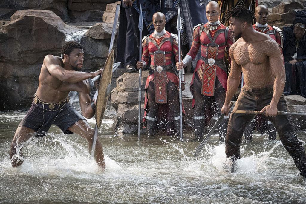 T'Challa fights Killmonger