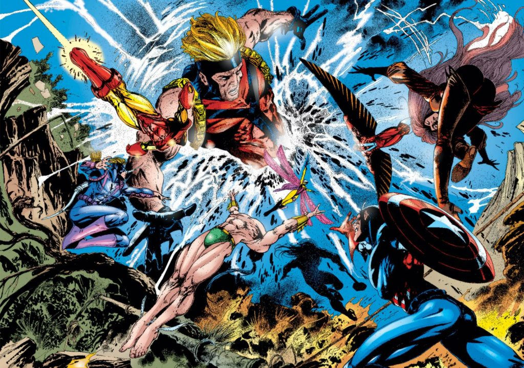 "90's Avengers comics event ""The Crossing"""