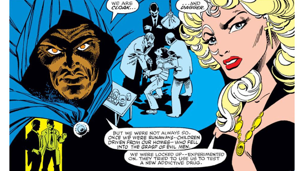 Comic book origins of Cloak and Dagger from the 1980s Marvel Comics