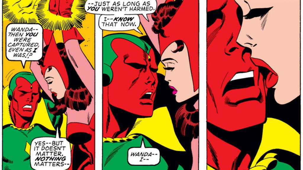 Wanda and Vision get smoochy