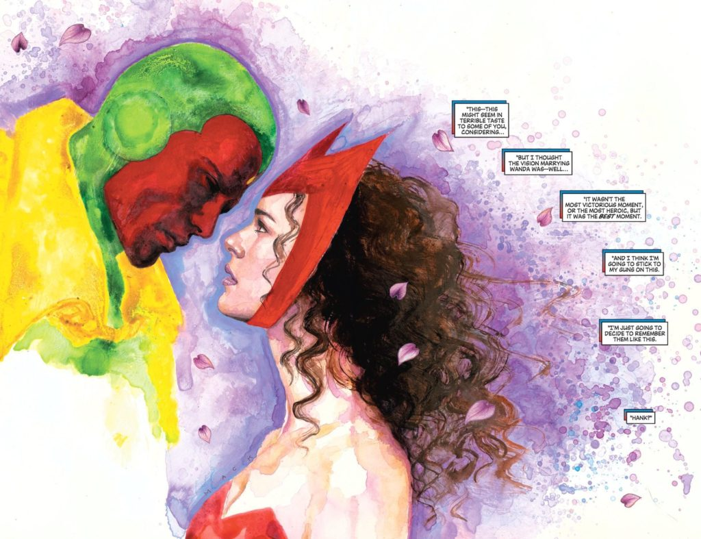 Vision and Scarlet Witch by artist David Mack