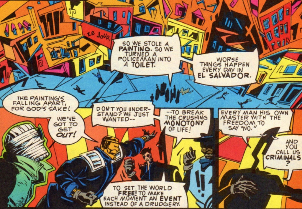 Grant Morrison writing DC Comics Doom Patrol team
