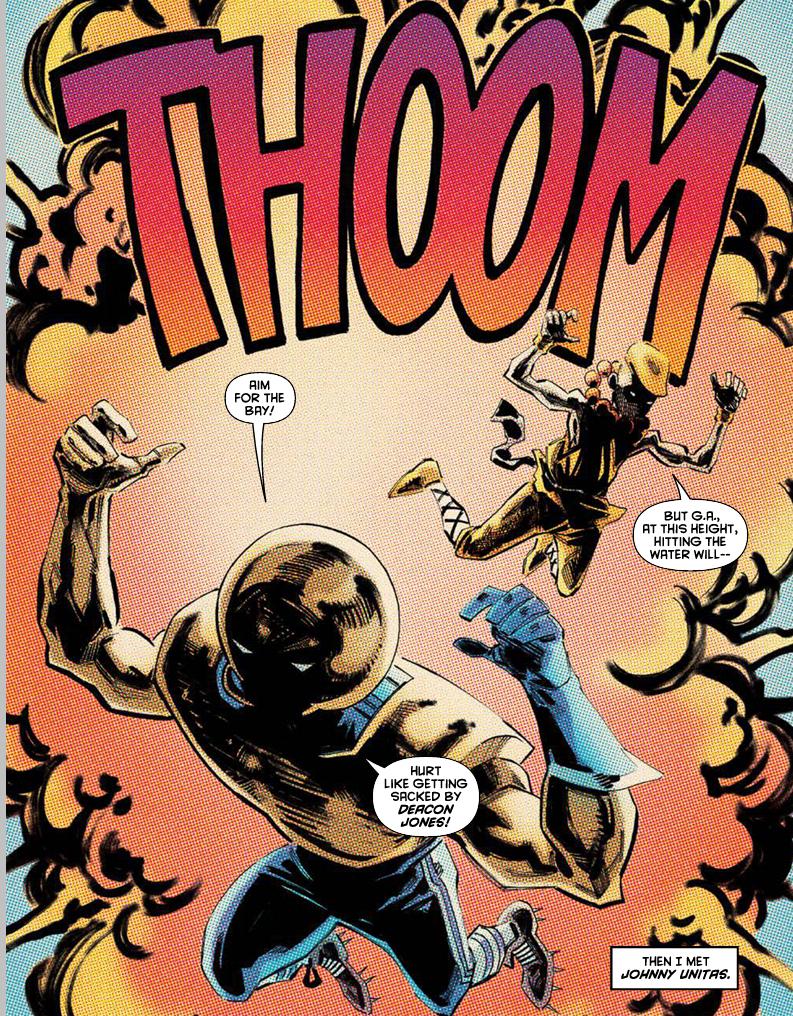 Fu Jitsu fights crime with Johnny Unitas, yeah, the quarterback