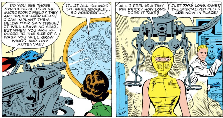 Janet Van Dyne becomes the Wasp