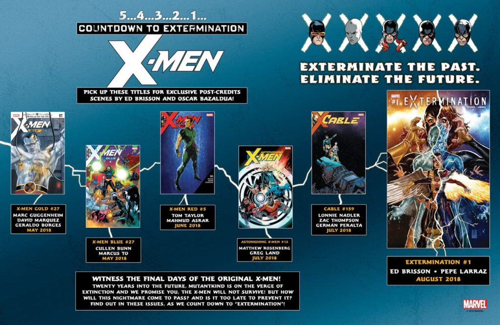 Crossover prelude tie-ins for X-Men Extermination comic book event