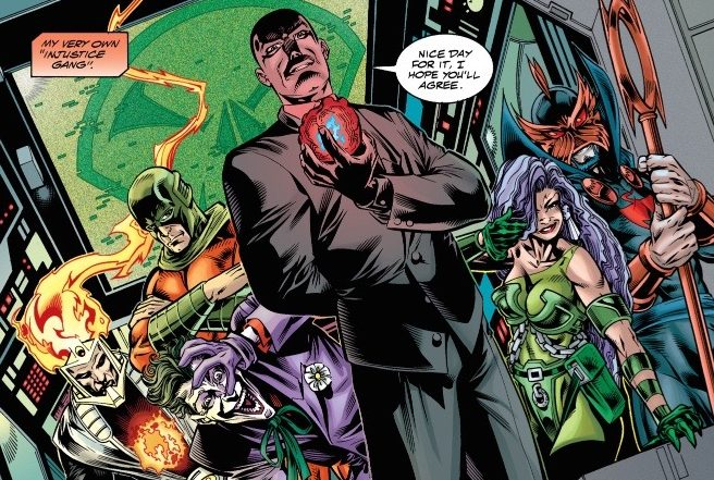 """Lex Luthor forms an Injustice League during the Grant Morrison written """"Rock of Ages"""" story arc"""