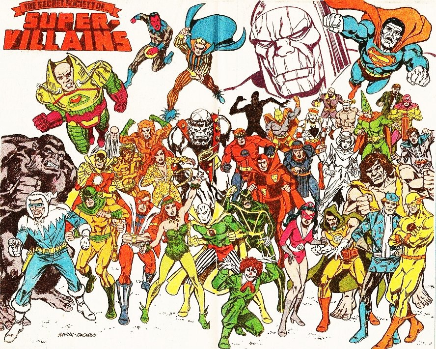 DC's Society of Super-Villains in 1970's comics