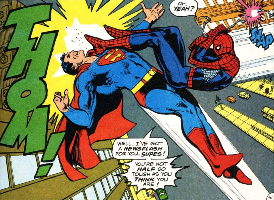 Spider-Man vs Superman crossover between Marvel and DC Comics