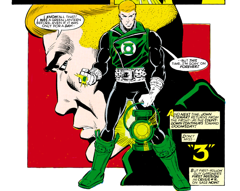 Guy Gardner becomes a Green Lantern during Crisis on Infinite Earths