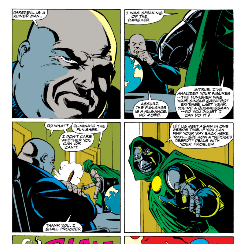 The Kingpin and Doctor Doom talk in Marvel's Acts of Vengeance event
